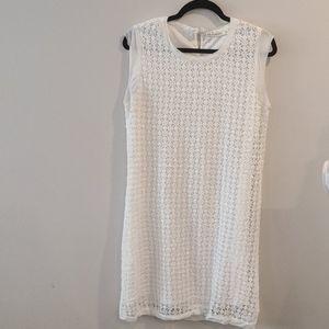 Anthropologie Laffaire white crochet dress